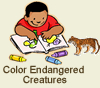 color endangered creatures